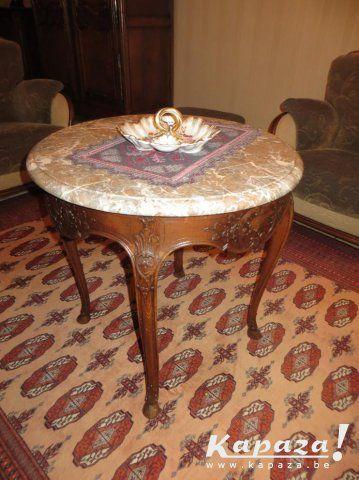 Mooie Uitgestoken Salontafel Antieke Meubelen Sint Truiden