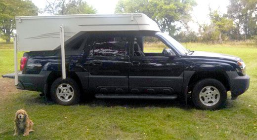 Chevy Avalanche Gets A Custom Camper Chevy Avalanche Avalanche