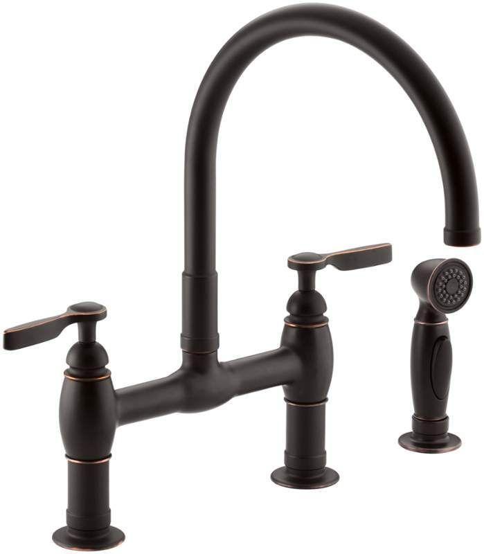 View the Kohler K-6131-4 Parq Double Handle Bridge Faucet with ...