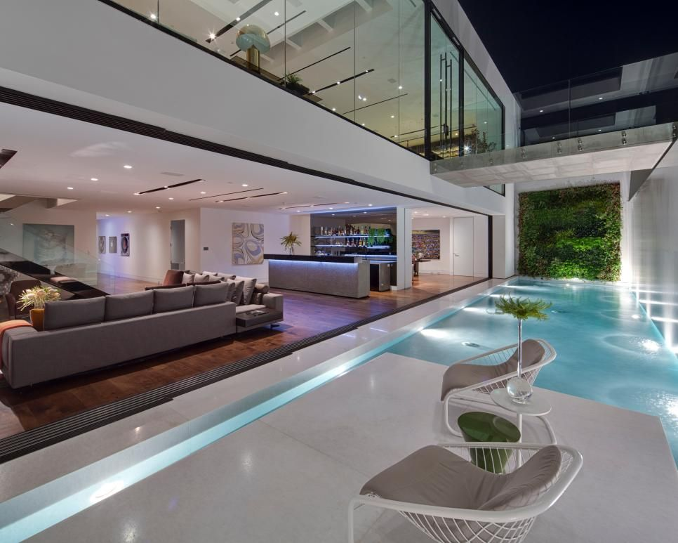 Tour a sophisticated glass home in los angeles if walls - Modern interior doors los angeles ...