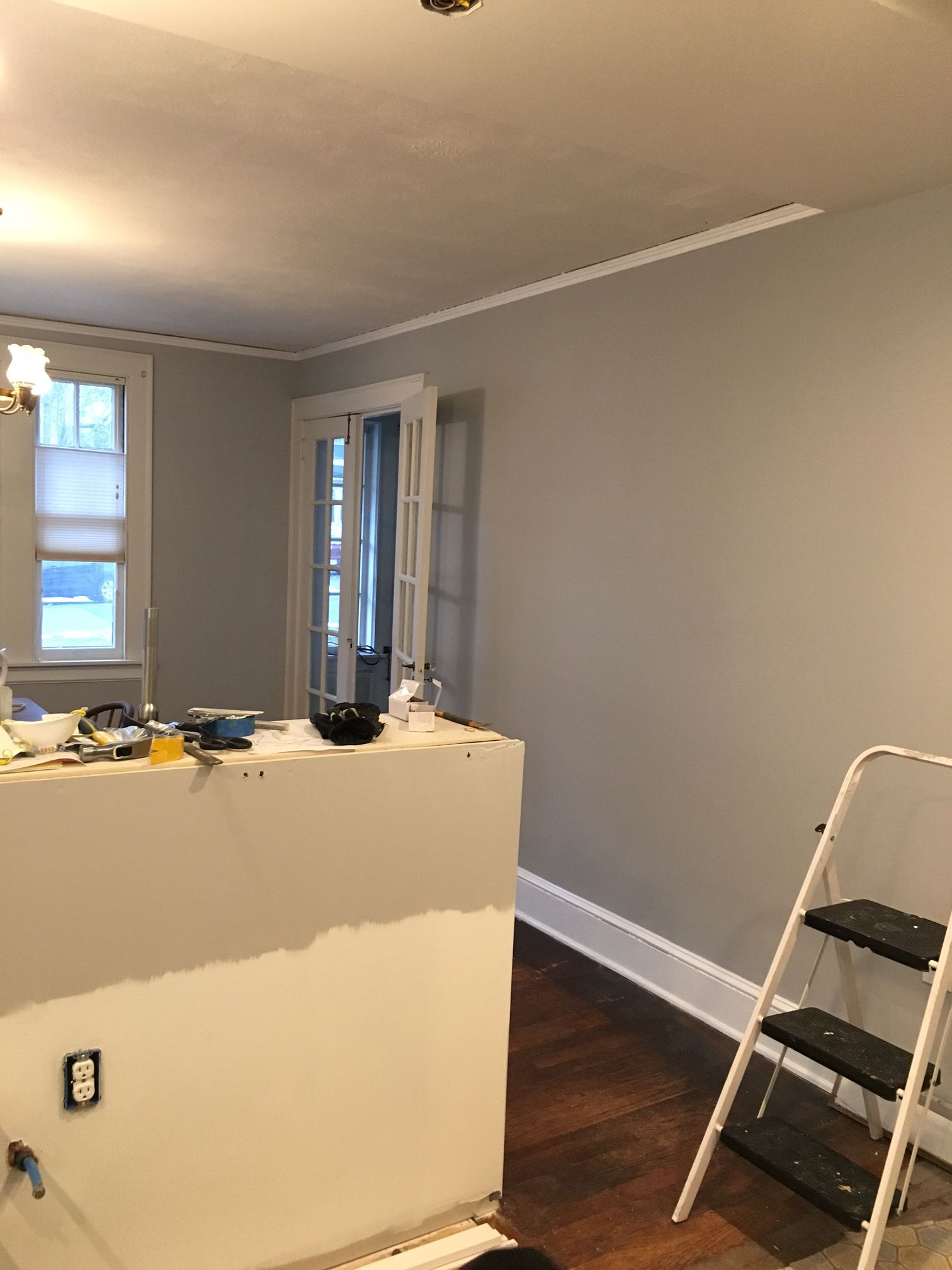 Painting In The Dining Room And Kitchen Are Complete We Used Behr Silver Bullet Kitchen