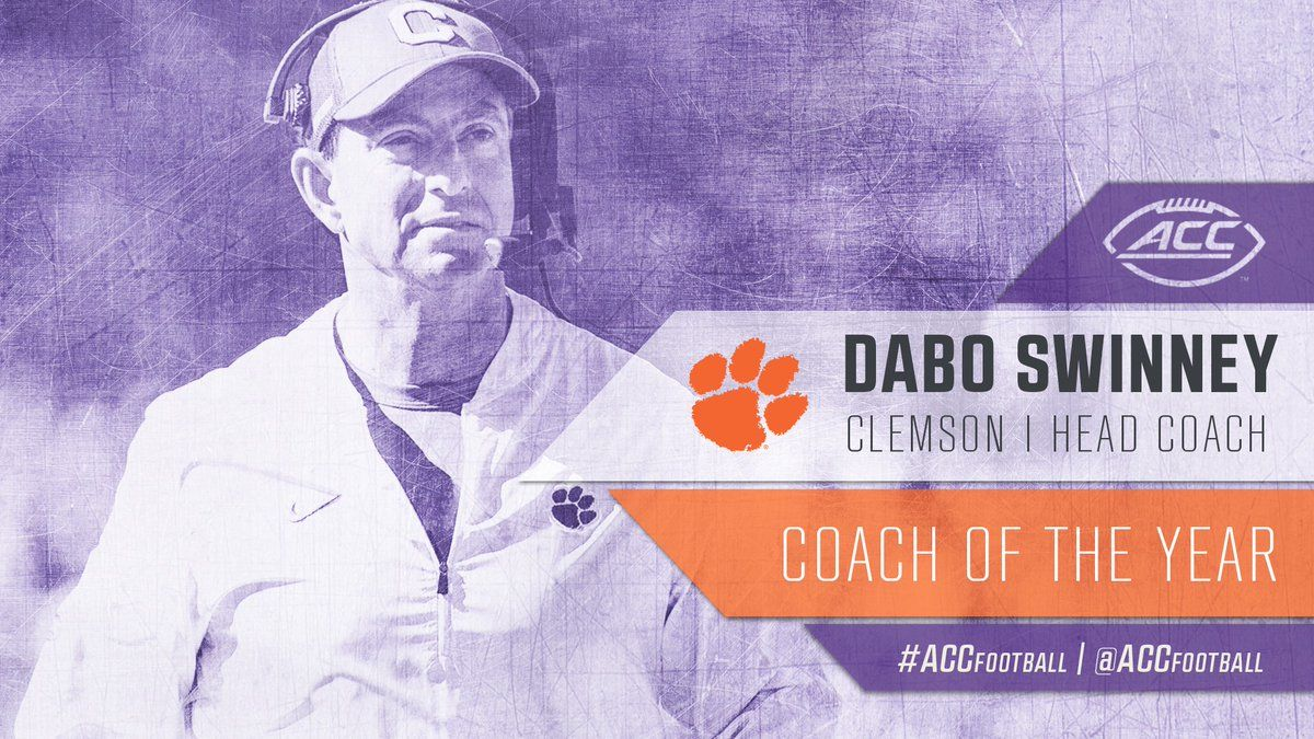 Dabo Wins ACC Coach of the Year | Coach of the year ...