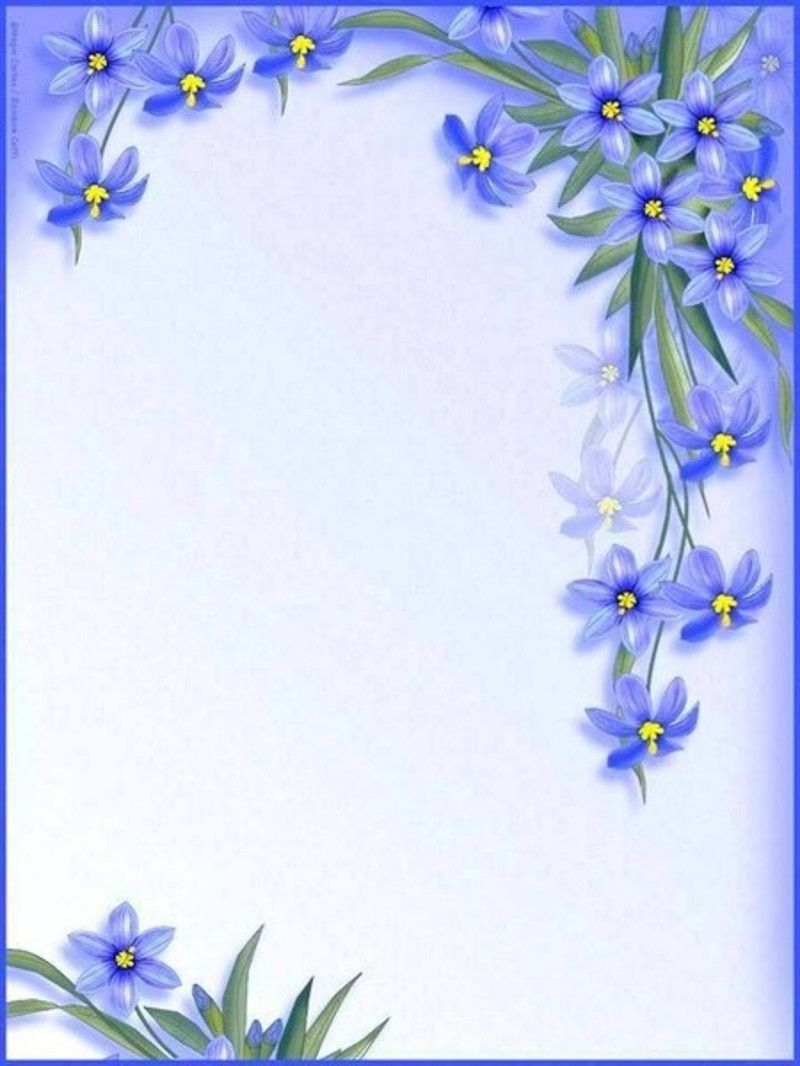 Beautiful Blue Flowers What To Write Pinterest Paper Paper