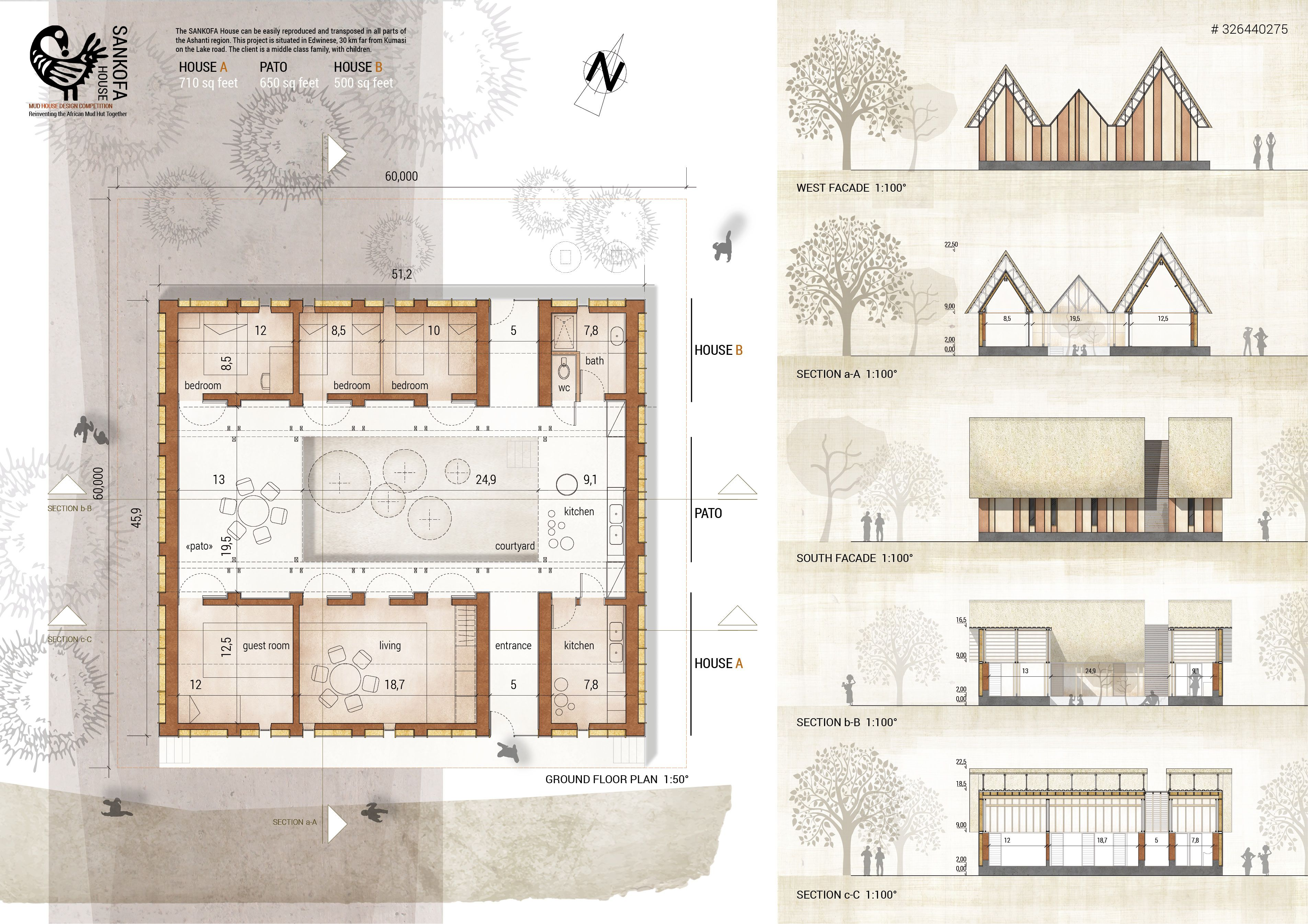 Architecture Drawing Competition 2014 http://thecompetitionsblog/results/2014/10/winners-mud-house