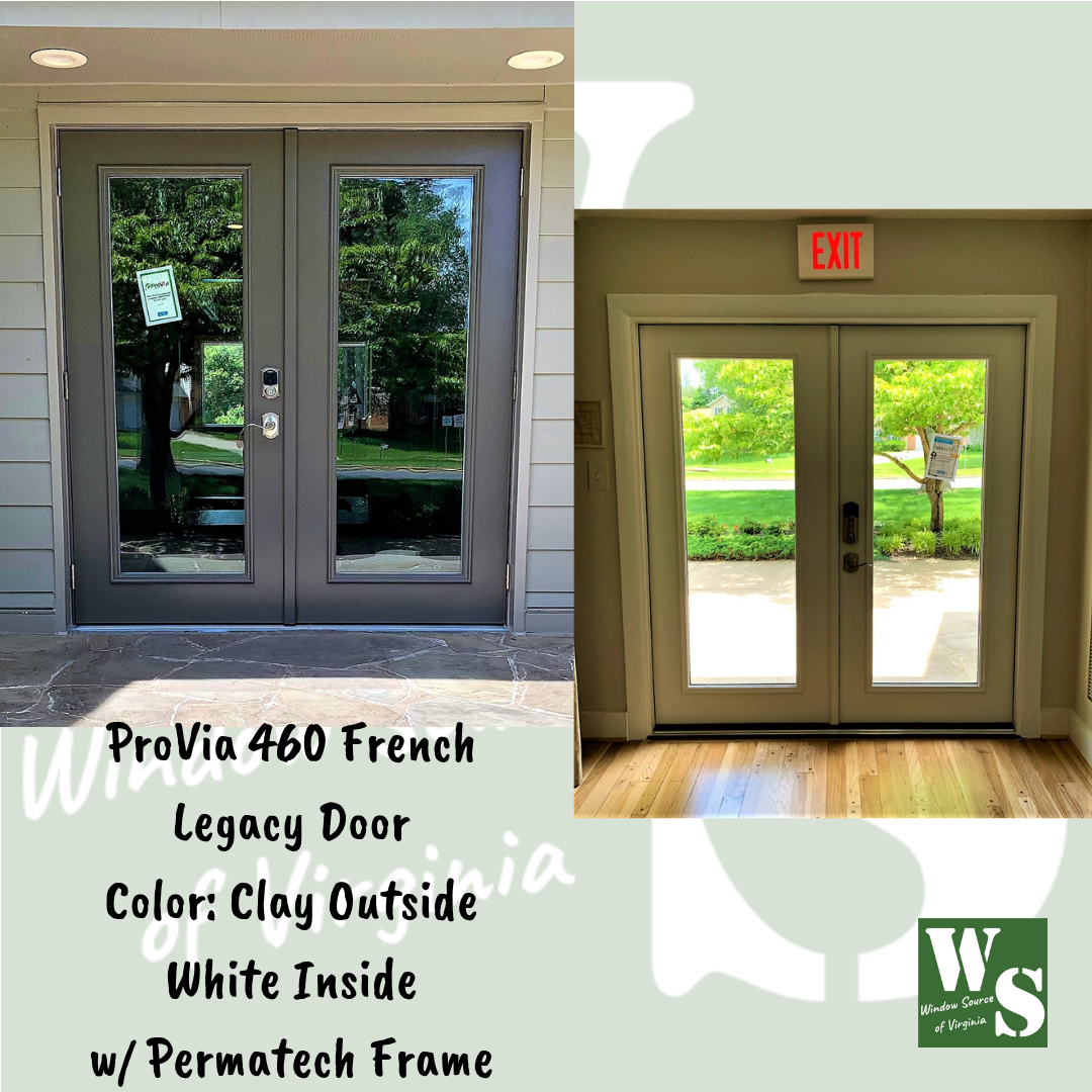 Another Returning Customer In Viennava Provia 460 French Legacy Door Color Clay Outside White Inside Exterior Door Frame Exterior Doors Door Frame
