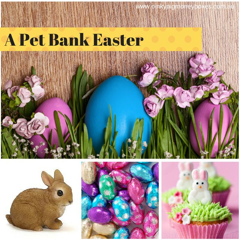Pet Banks are a great Easter gift alternative to chocolate, or with chocolate! www.oinkypigmoneyboxes.com.au