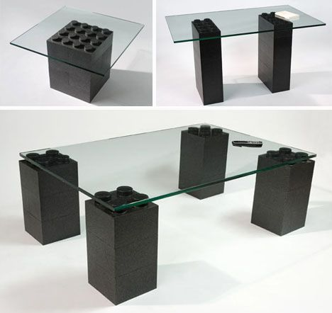 diy contemporary furniture. Super-sized Lego Furniture (huge Base + Glass Top) --- Diy Contemporary M