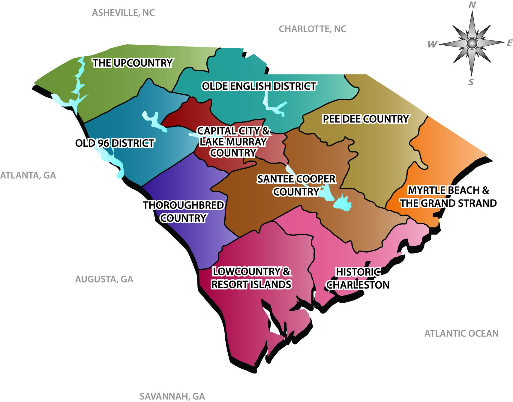 Where can you find a map of the South Carolina coast?