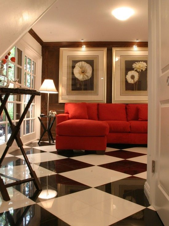 Your red couch black and cream stuff For Amber Pinterest Wood