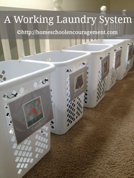 Solution A Working Laundry System For Children And Adults Large Family Small House Laundry System Laundry Room Organization Laundry Room