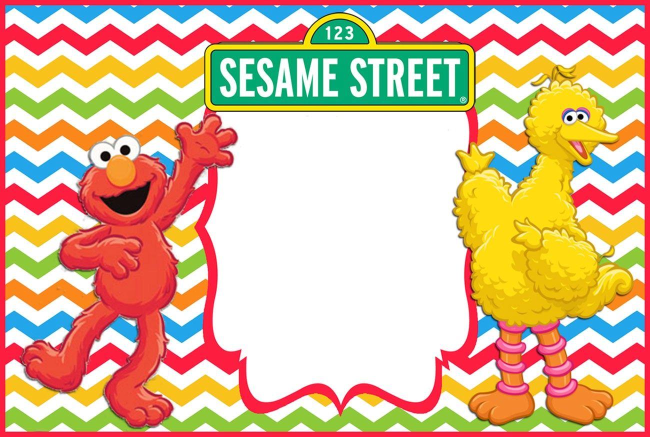 Sesame Street Elmo Birthday Invitation Template