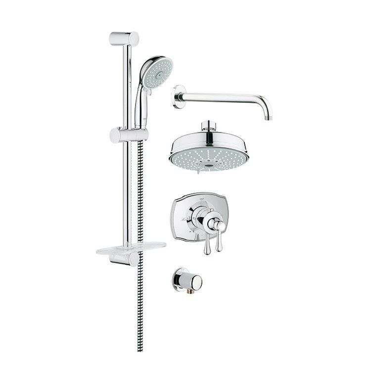 Grohe 35054000 Grohflex Authentic Thermostatic Shower Combination
