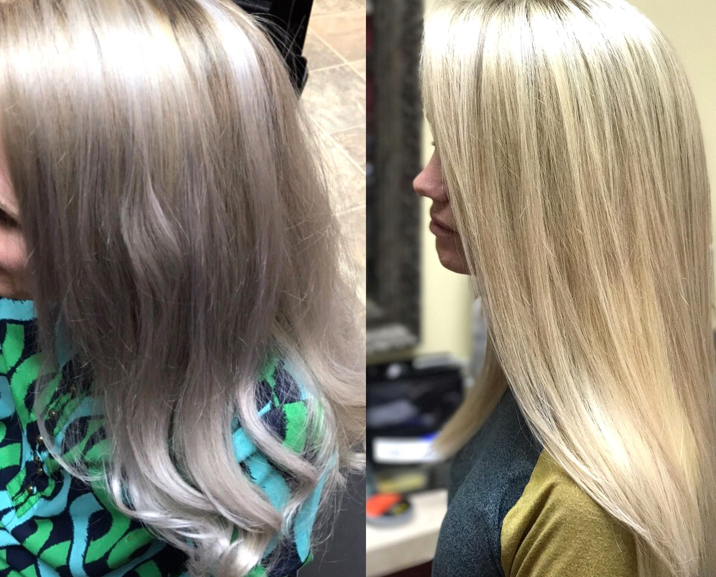 Color Correction Poor Marie Paid 150 For Highlights And Toner To A Salon Owner Only To Leave With Pur In 2020 Hair Conditioning Treatment Long Hair Styles Hair Styles