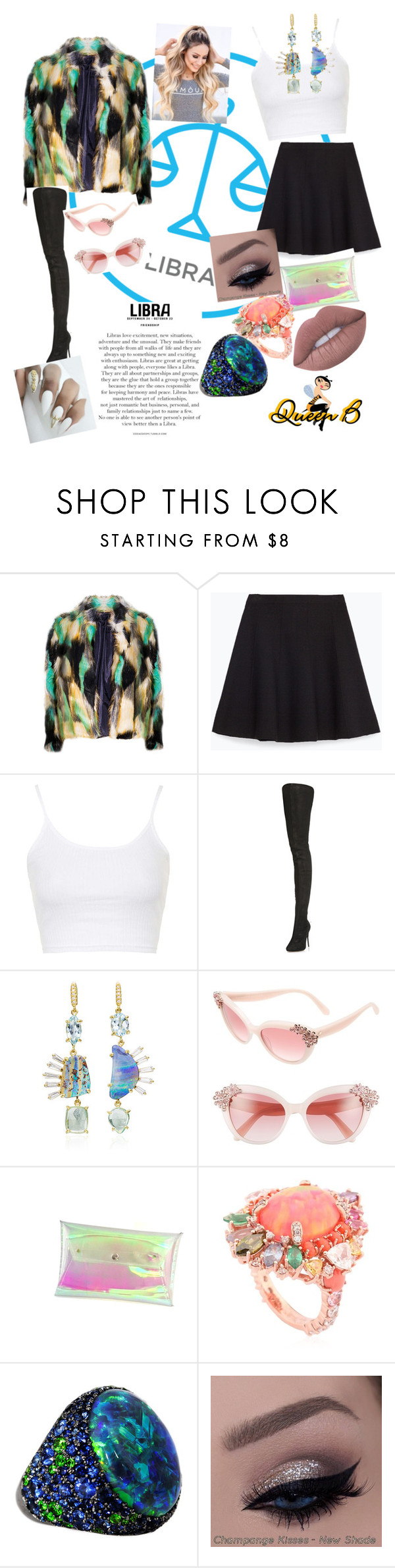"""""""Libra Love....That's Me♎"""" by glam-fab-bee-heelz ❤ liked on Polyvore featuring Zara, Topshop, Maison Margiela, Lauren K, Kate Spade, Anabela Chan and Lime Crime"""