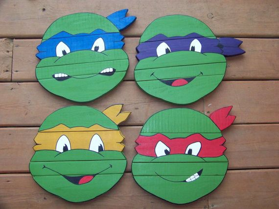 Ninja Turtle Wall Decor tmnt teenage mutant ninja turtles hand painted canvas wall decor