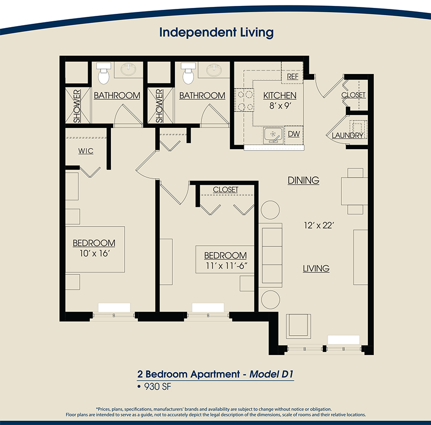 Image Result For Luxury 2 Bedroom Apartment Floor Plans Casas