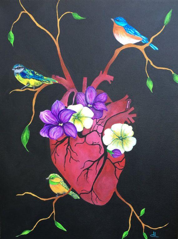 Original Beating Heart Anatomical Human Anatomy Medical