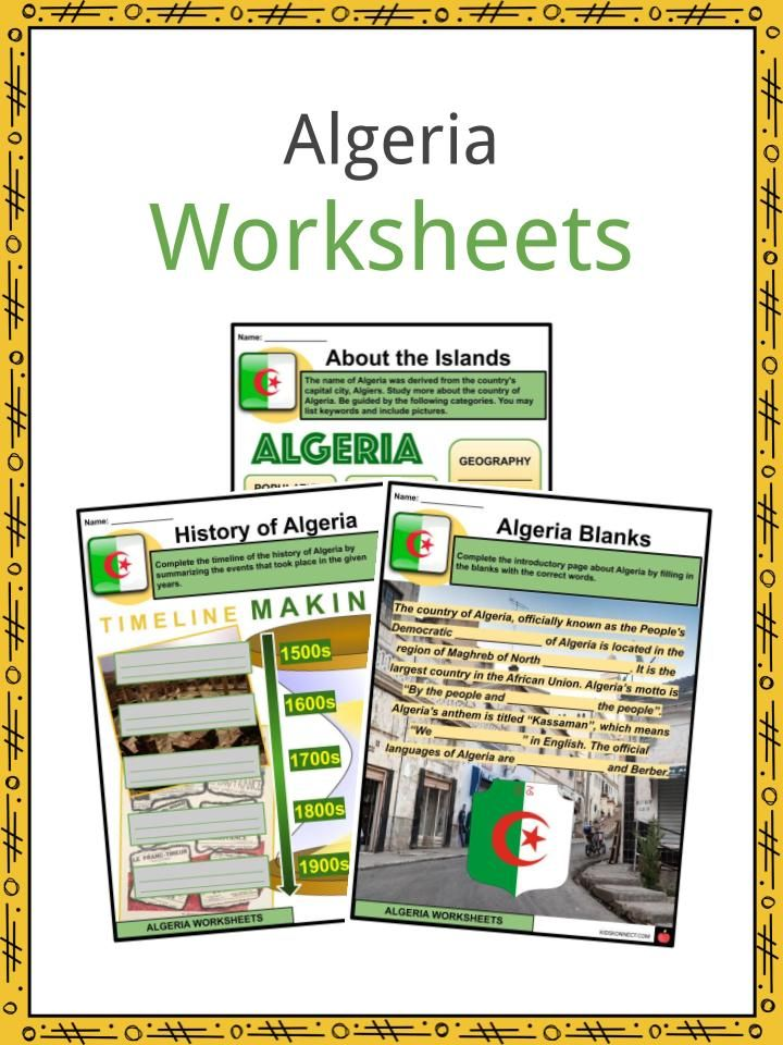 Algeria Facts & Worksheets in 2020 Geography, Algeria