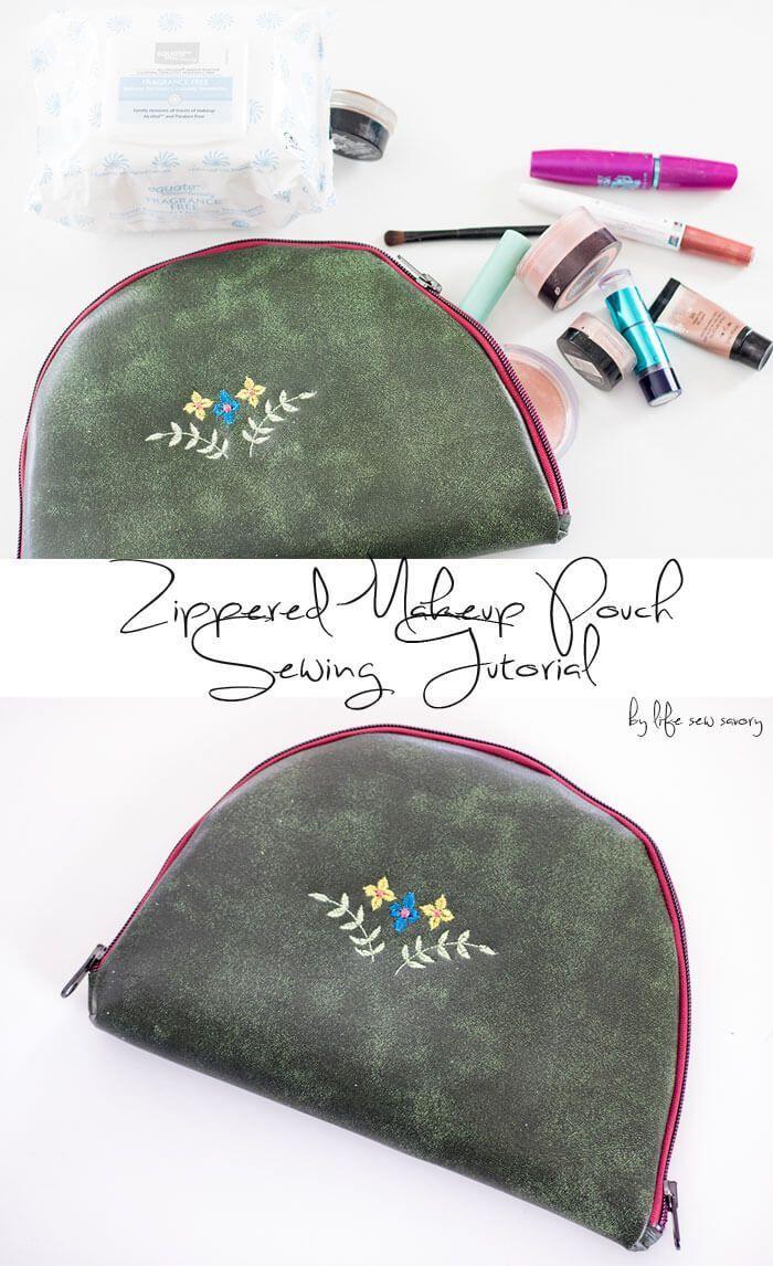 DIY zipper pouch sewingtutorialfromLifeSewSavory