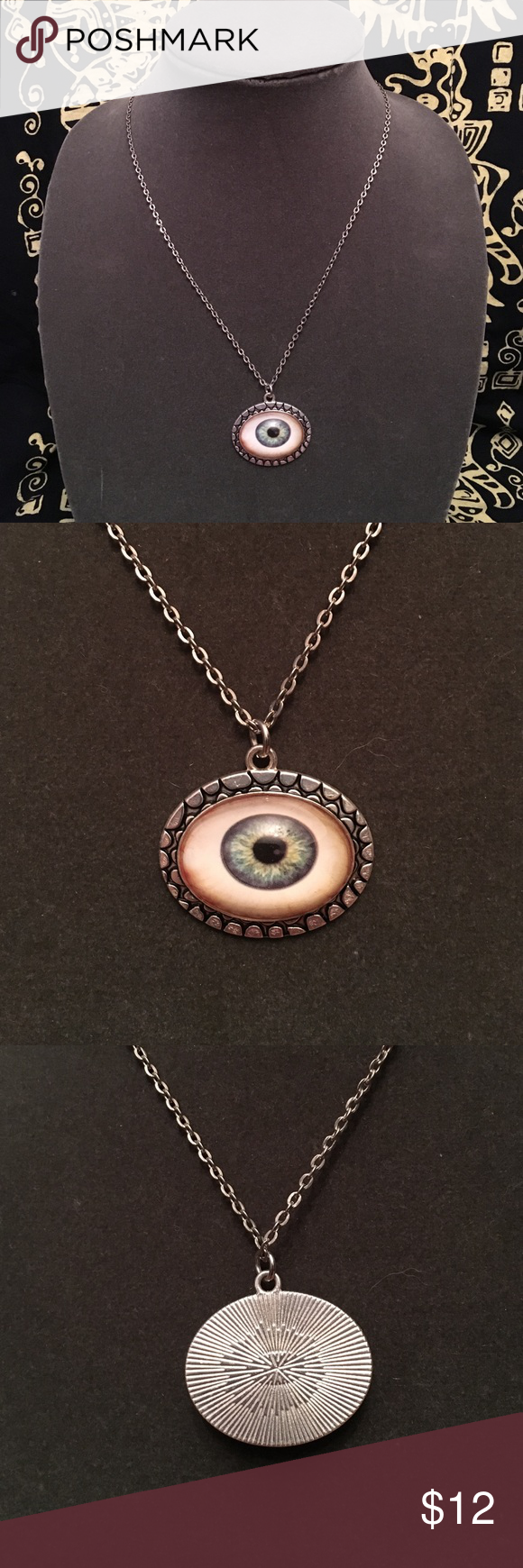 eyeball piece necklace flashing fleyeball be beaded