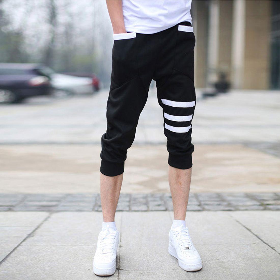 High Quality Men's Cotton Loose Printing Denim Shorts New Fashion ...