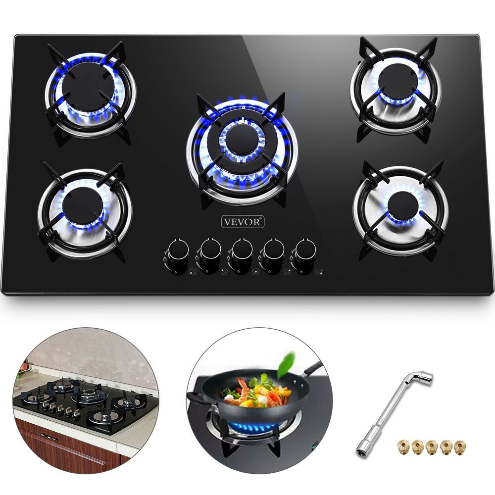 Ebay Sponsored 36 Tempered Glass Gas Cooktop 5 Burners Kitchen Cooktop Electric Ignite Black Kitchen Cooktop Gas Cooktop Electric Cooktop