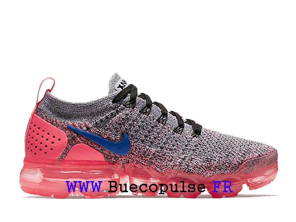 new arrivals d8134 95816 Nike Air VaporMax Flyknit 2 Chaussures de Basketball Femme Rose gris 942843- 104-Nike