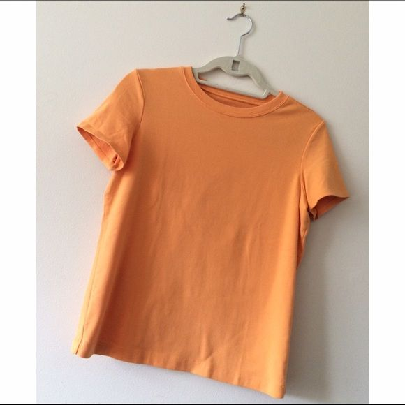 NWOT CHICOS T New CHICOS t shirt. Orange. Size 1. (Small). 98% cotton 2% spandex. Very nice comfy and light tee. Chico's Tops Tees - Short Sleeve