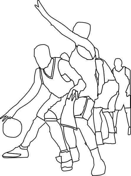basketball coloring pages 1 | crafts