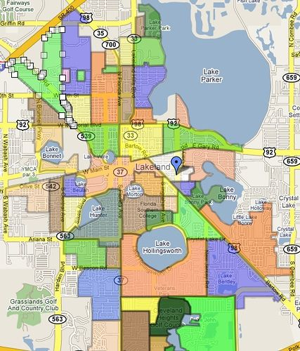 Lakeland Florida Neighborhood map by lakelandlocal, via Flickr