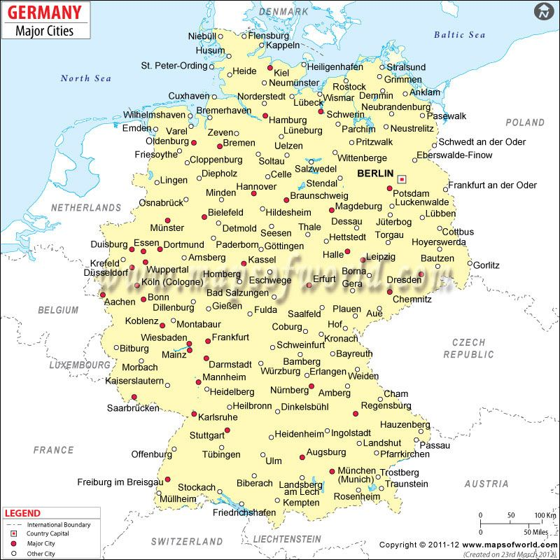 Cities In Germany Germany Cities Map Germany Map Cities In Germany Germany