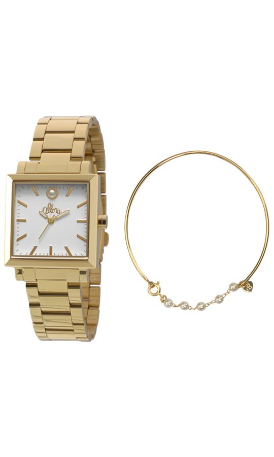 Kit Relogio Allora Feminino Ivete Dourado AL2035EZV4B   Relógios ... a52d879115