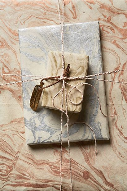 Love this marbled wrapping paper