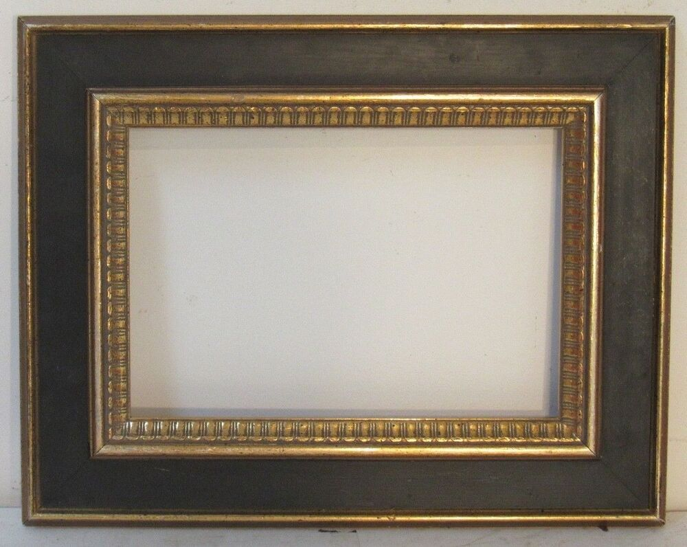 Art Deco Art Crafts Gilded Black Wood Frame For Painting 12 X 8 Inch Artscraftsartdeco Frame Wall Art Plaques Black Wood