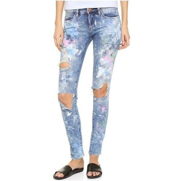 dd00627c920f Rialto Jean Project RJP x Blank Denim Distressed Skinny Jeans ($150) ❤  liked on