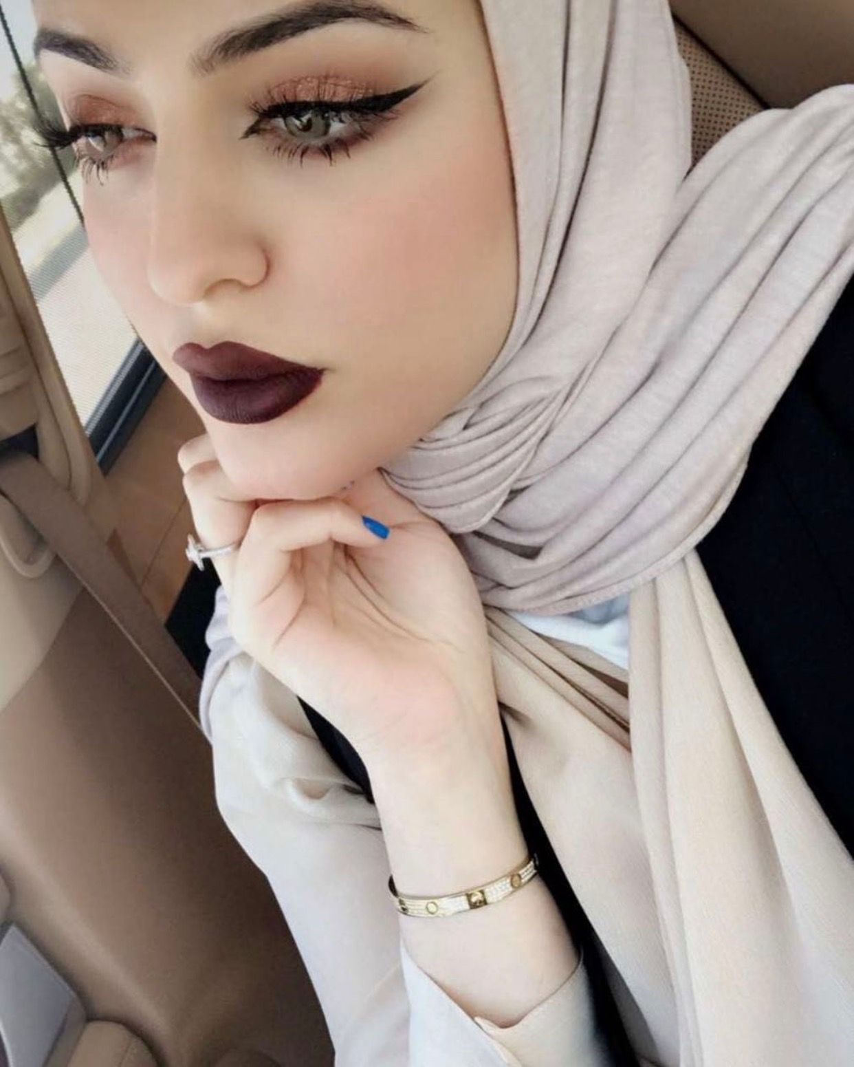 Pinterest Adarkurdish Hijab Makeup Beautiful Girl Makeup Hijab Fashionista