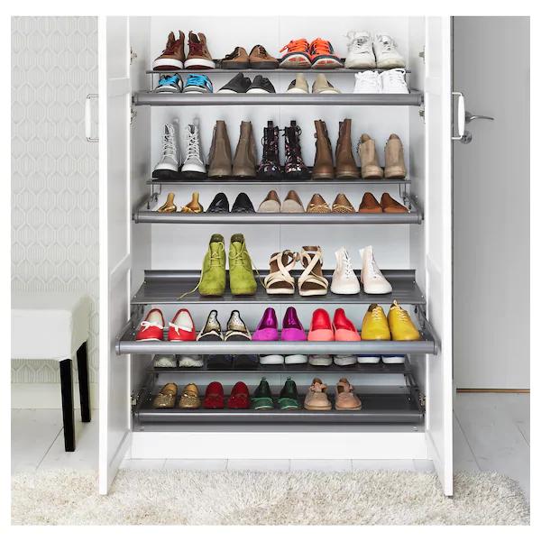 Komplement Wysuwana Polka Na Buty Ciemnoszary 100x58 Cm Kupuj Online Lub W Sklepie Ikea Shoe Shelf Ikea Shoe Shelf Shoe Shelves