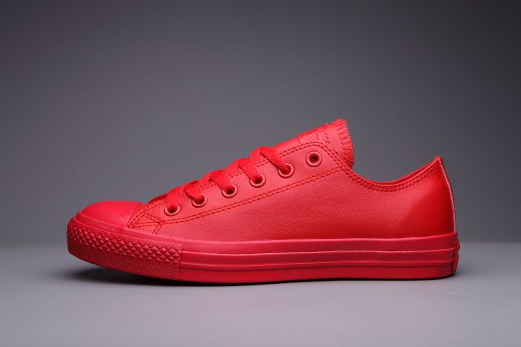 6da790d8ed95 converse Converse Red Leather Low Tops Womens Classic Shoes ...