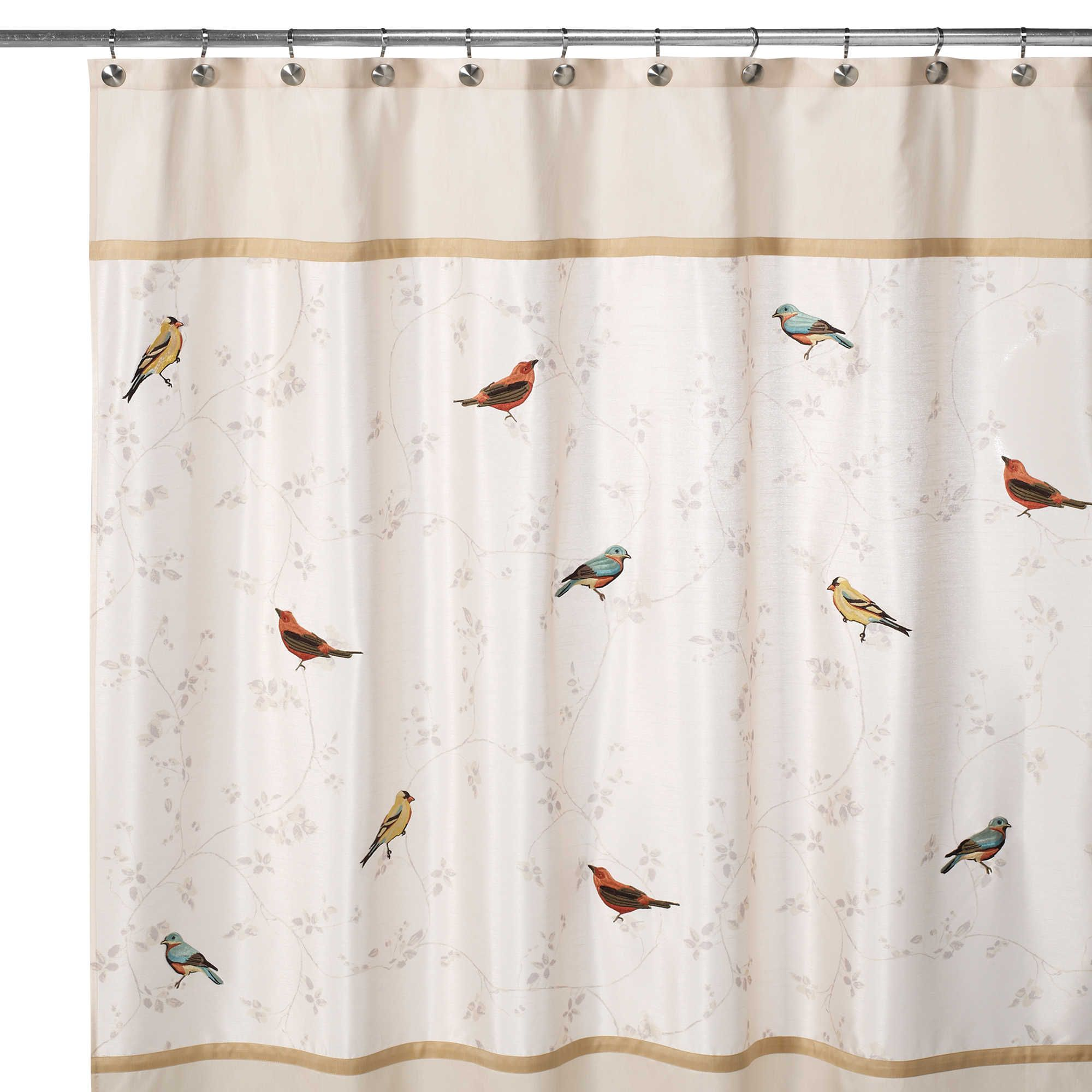 Avanti Gilded Birds 70 Inch X 72 Inch Shower Curtain Curtains