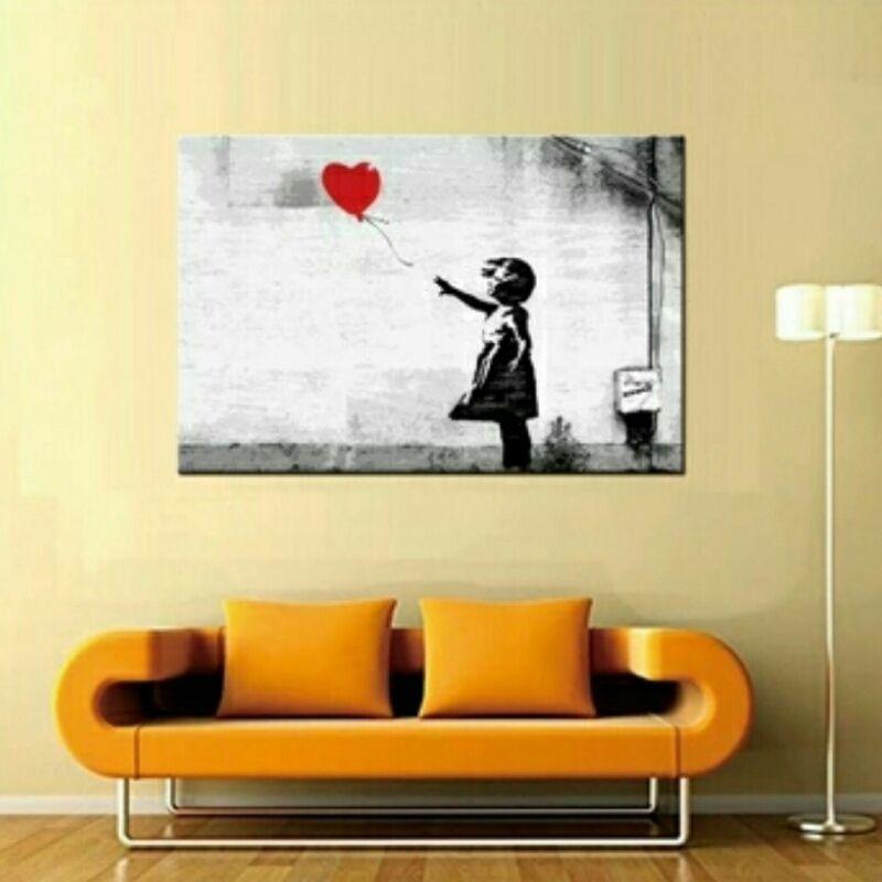 Windy Day Graffiti Wall Art on Canvas **WORLDWIDE SHIPPING AVAILABLE ...