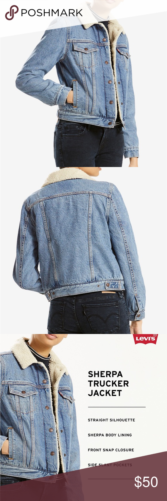 Levi's Denim Wool Sherpa Lining Jacket NWT (With images ...