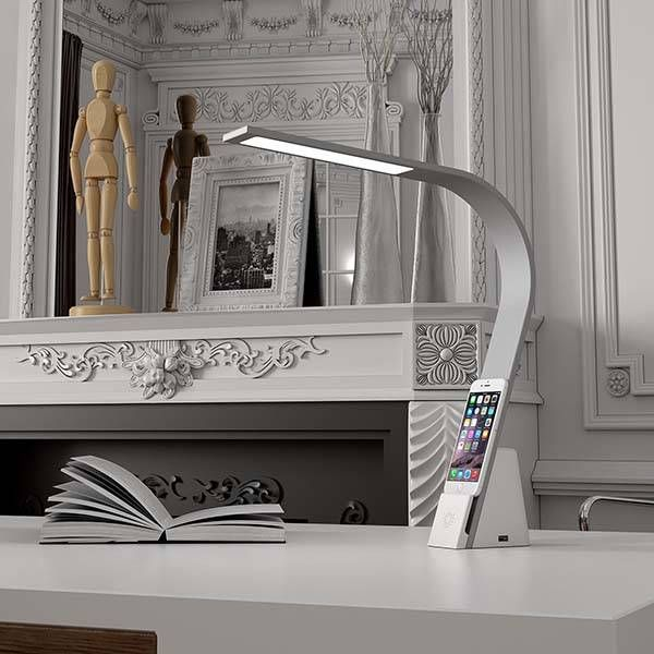 LUX Brooklyn LED Desk Lamp with Integrated Charging ...