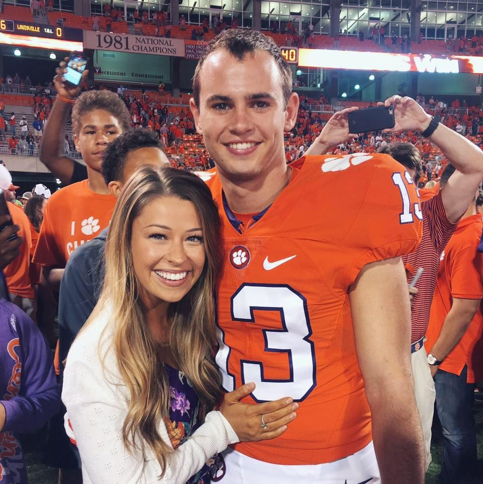 Meet The Lovely Camilla Martin She Is The Pretty Girlfriend Of Clemson Tigers Wide Receiver Hunter Renf Hunter Renfrow Clemson Tigers Football Camilla Martin