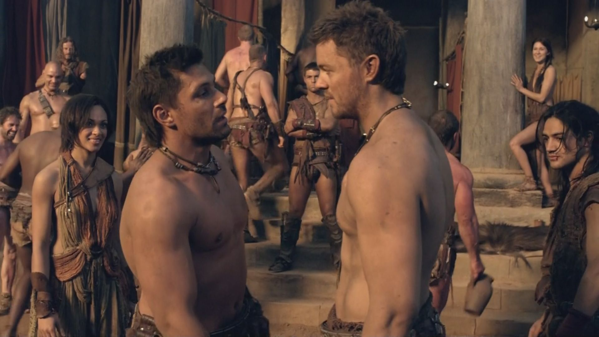 Agron And Crixus Nasir Looks So Cute In This Spartacus