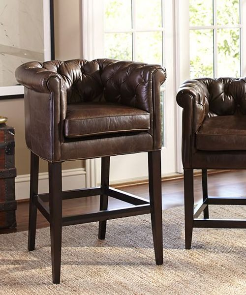Chesterfield Bar Stools Leather Living Room Furniture Furniture