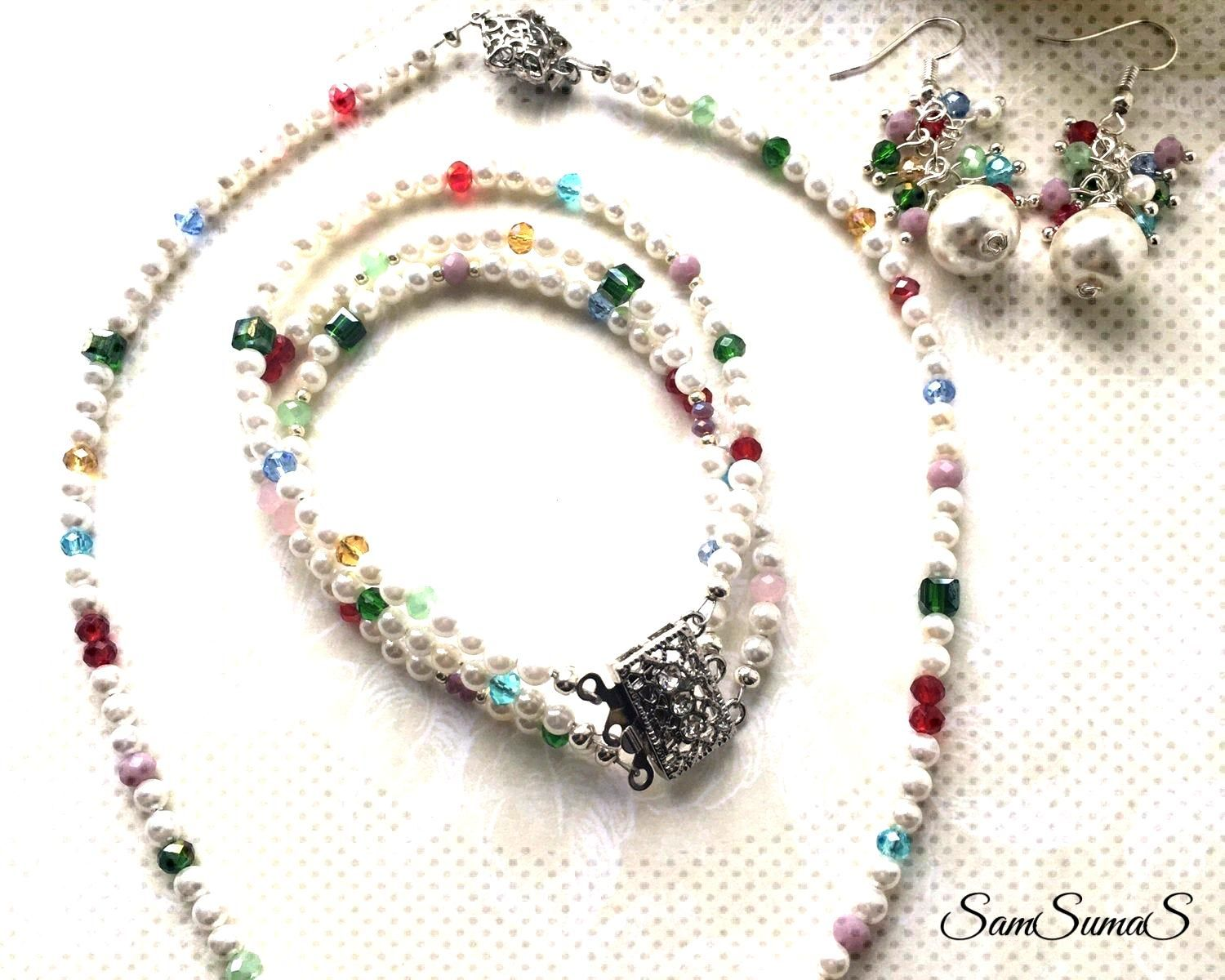 Hottest Pictures Bridal jewellery sets, Pearl jewellery sets, Dangle earrings, Pearl necklace, Ster