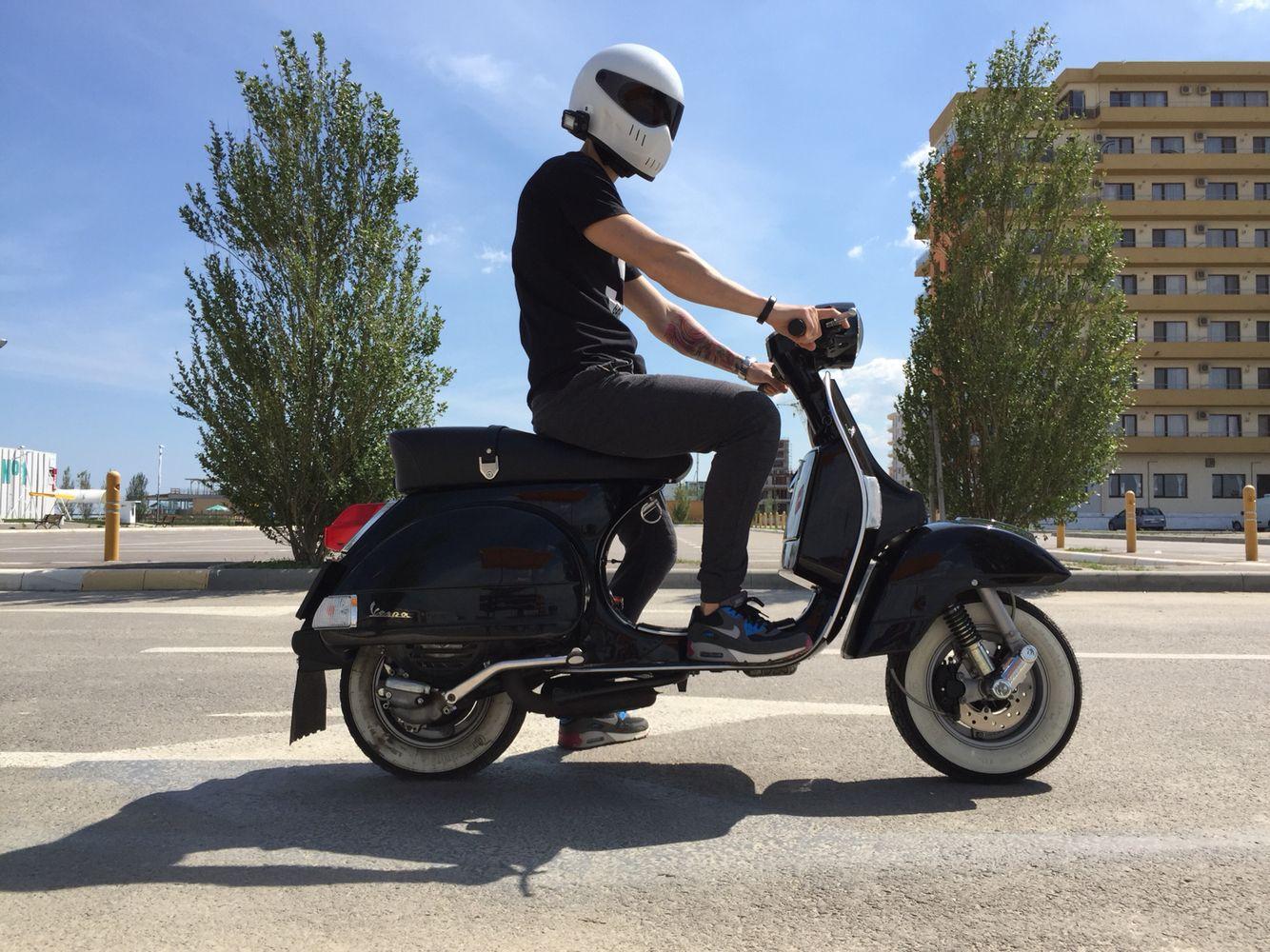 Vespa PX 150 and Bandit XXR Helmet   Vespa Scooter   Vespa