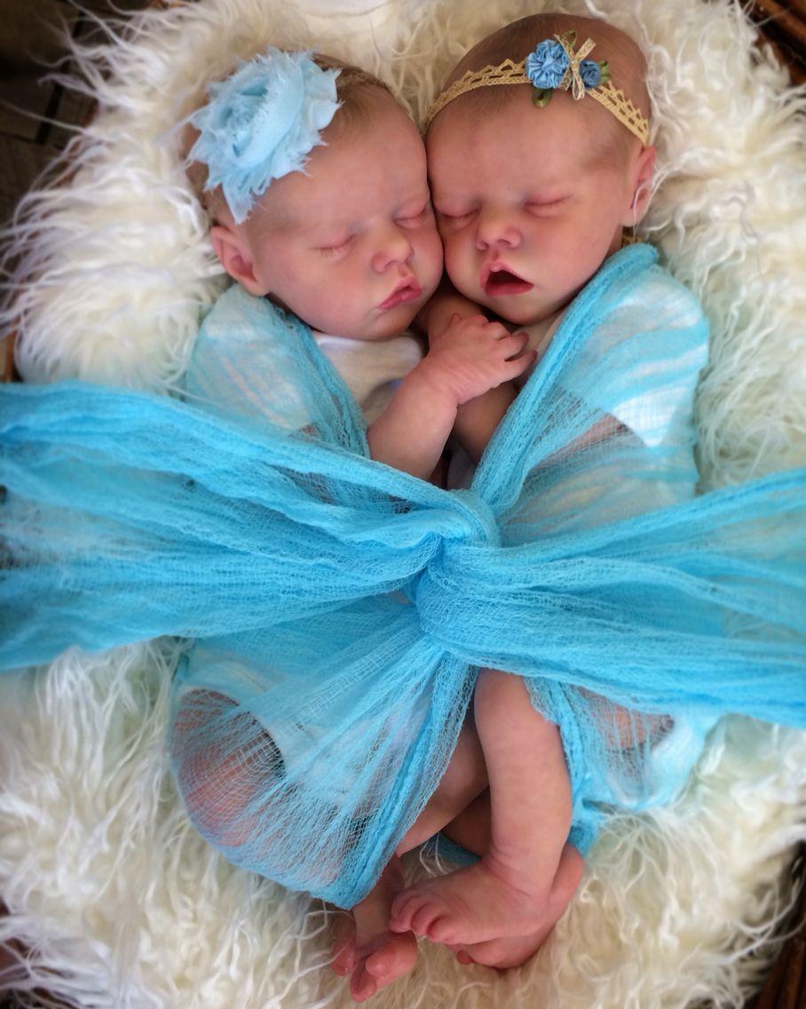 Twin A Twin B Bonnie Brown Reborn Doll Created By Mary