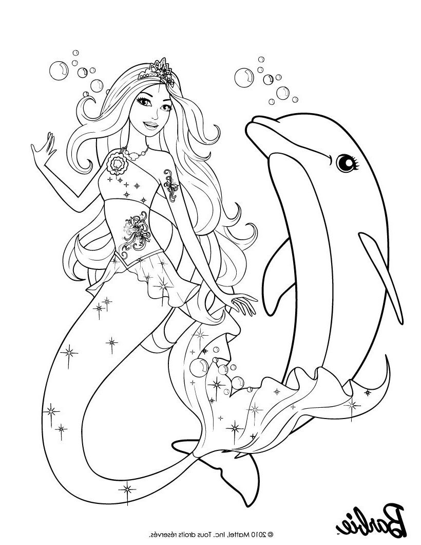 Coloriage Sirene Barbie