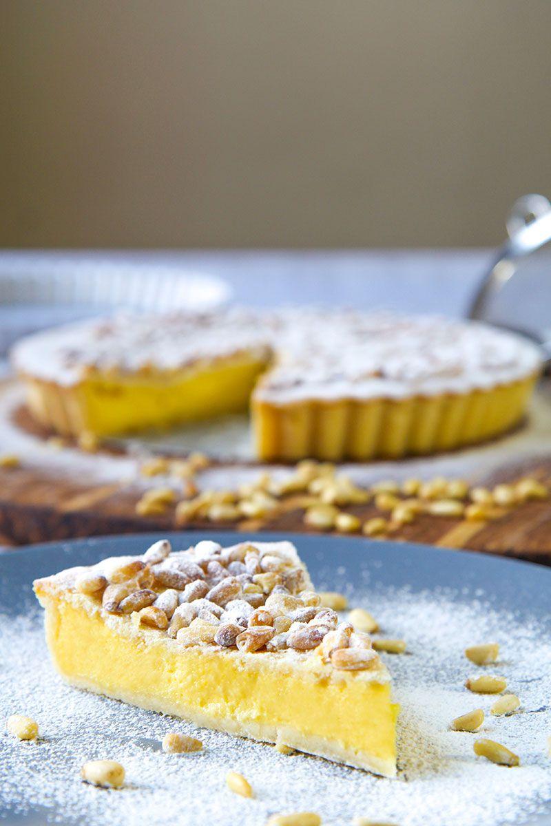 PASTRY CREAM TART italian recipe (Torta della Nonna)